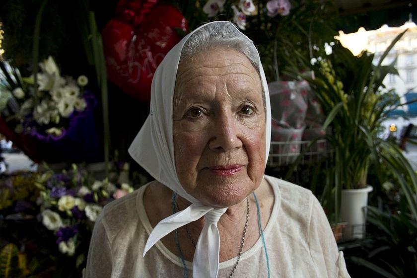 Nora Cortiñas, presidenta de Madres de Plaza de Mayo (línea fundadora), Buenos Aires, 19-03-15, Foto: Andrés Wittib, ANCCOM